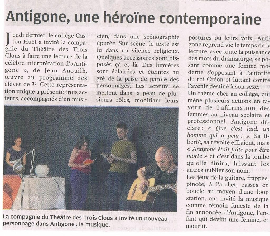 Lecture sonorisée d'Antigone